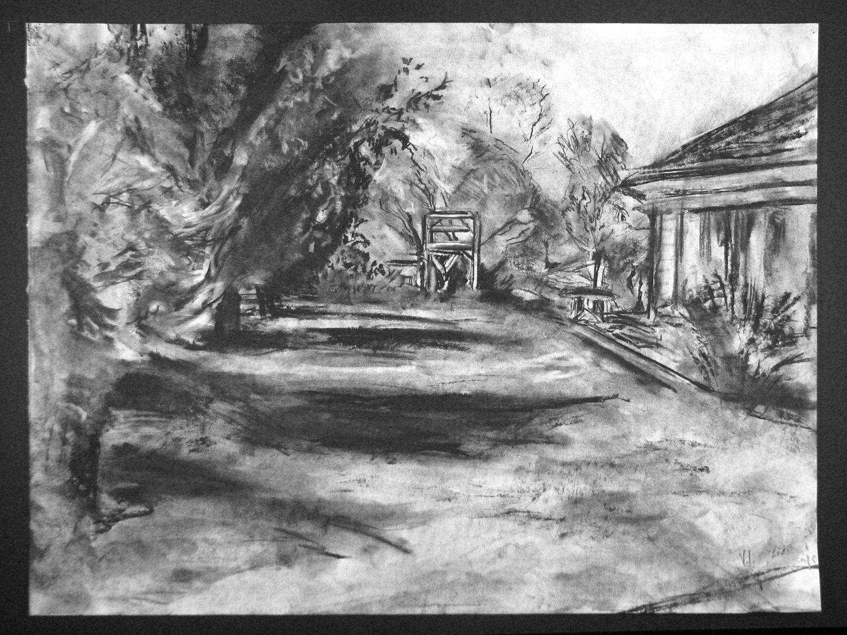 landscape charcoal sketches - photo #4