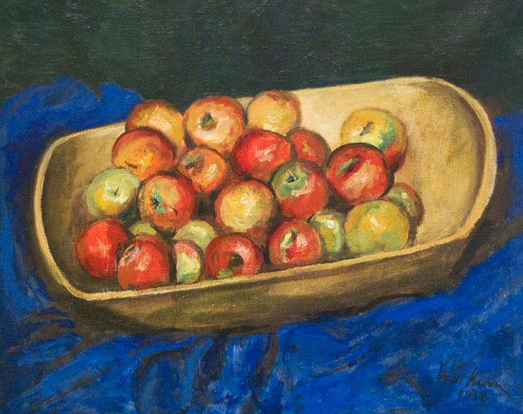 Walt Kuhn - Apples in a wooden boat