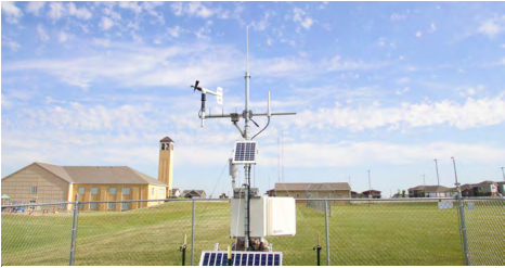 The Nebraska State Climate Office recently installed a weather at St. Michael's Church property south of Lincoln. | Shawna Richter-Ryerson, Natural Resources
