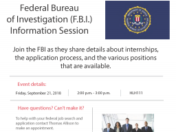 FBI Info session flyer