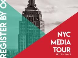 Registration closes Oct. 12 at 5 p.m. Sign up online at https://form.jotform.com/kellibritten/2018-nyc-media-tour.