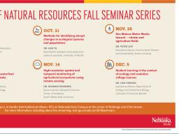SNR Fall 2018 Seminar schedule