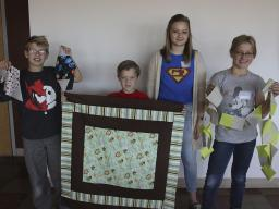 Some results from a Quilting for a Cause workshop held in September.