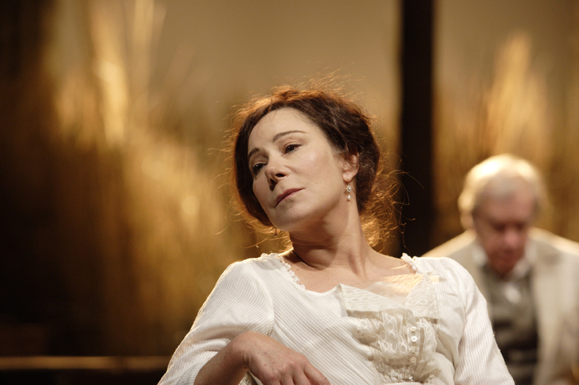 Zoe Wanamaker stars in 'The Cherry Orchard'. Photo by Catherine Ashmore.