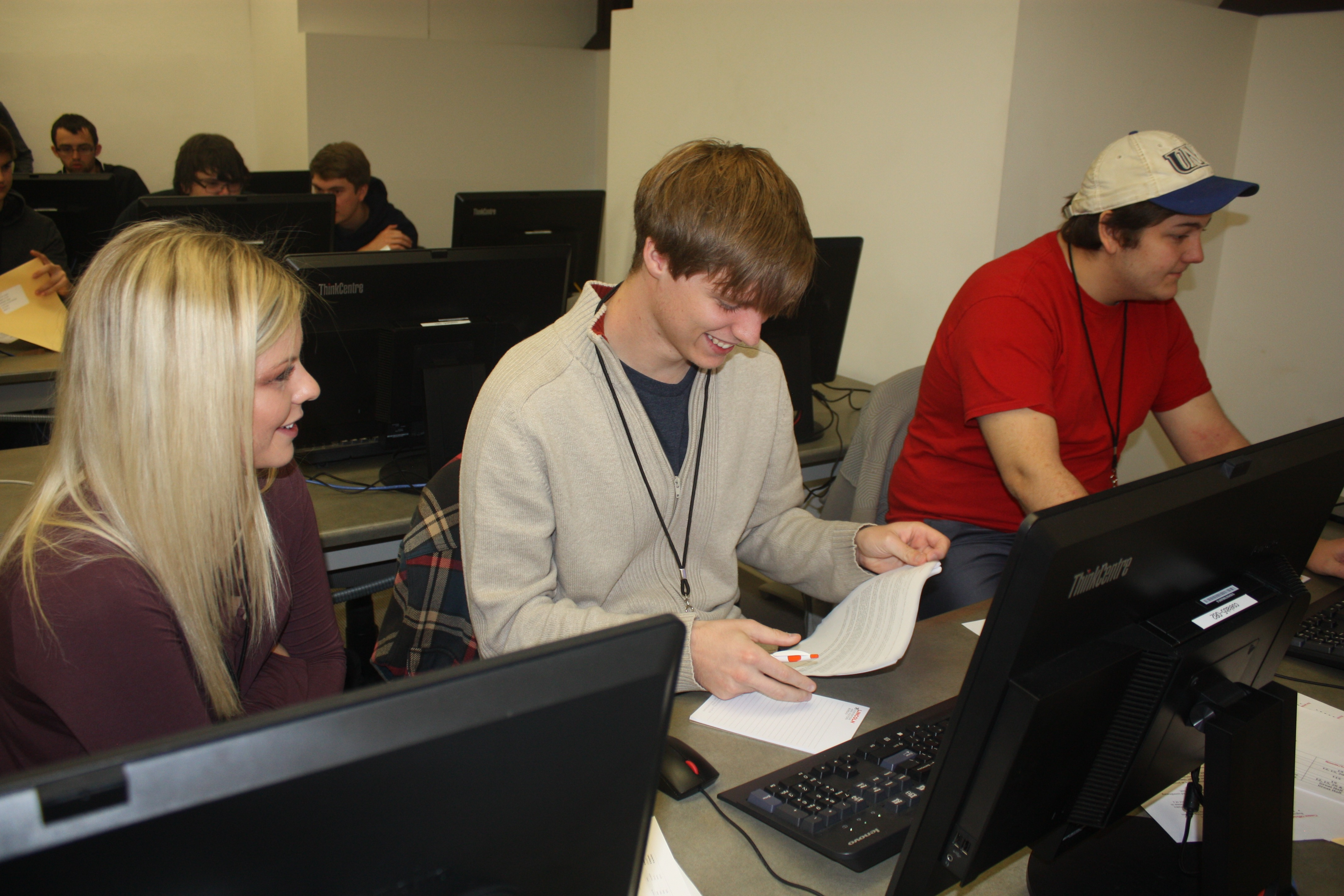 Students at the 2017 ACM Programming Contest.