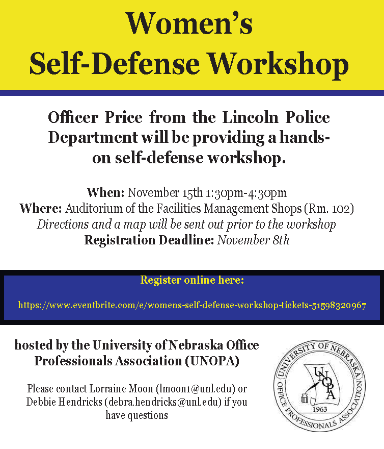 UNOPA Self-Defense Workshop
