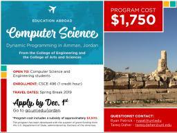 Study abroad in Jordan in 2019.