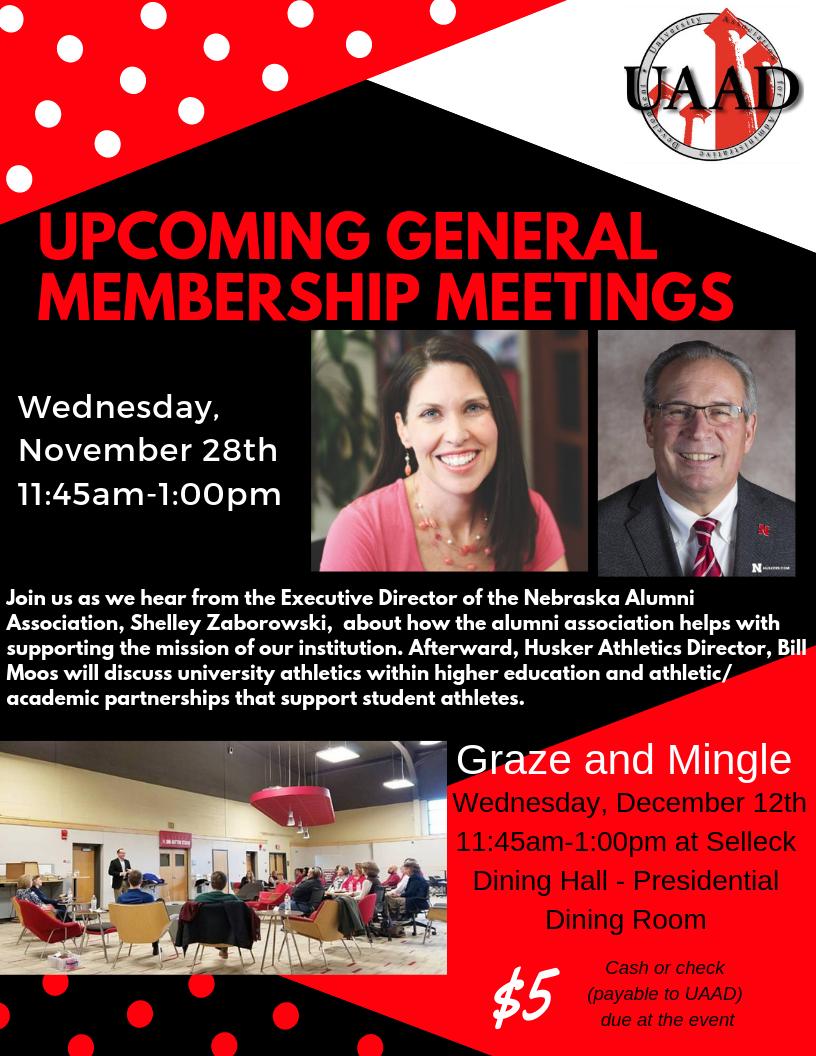 Upcoming Membership Meetings