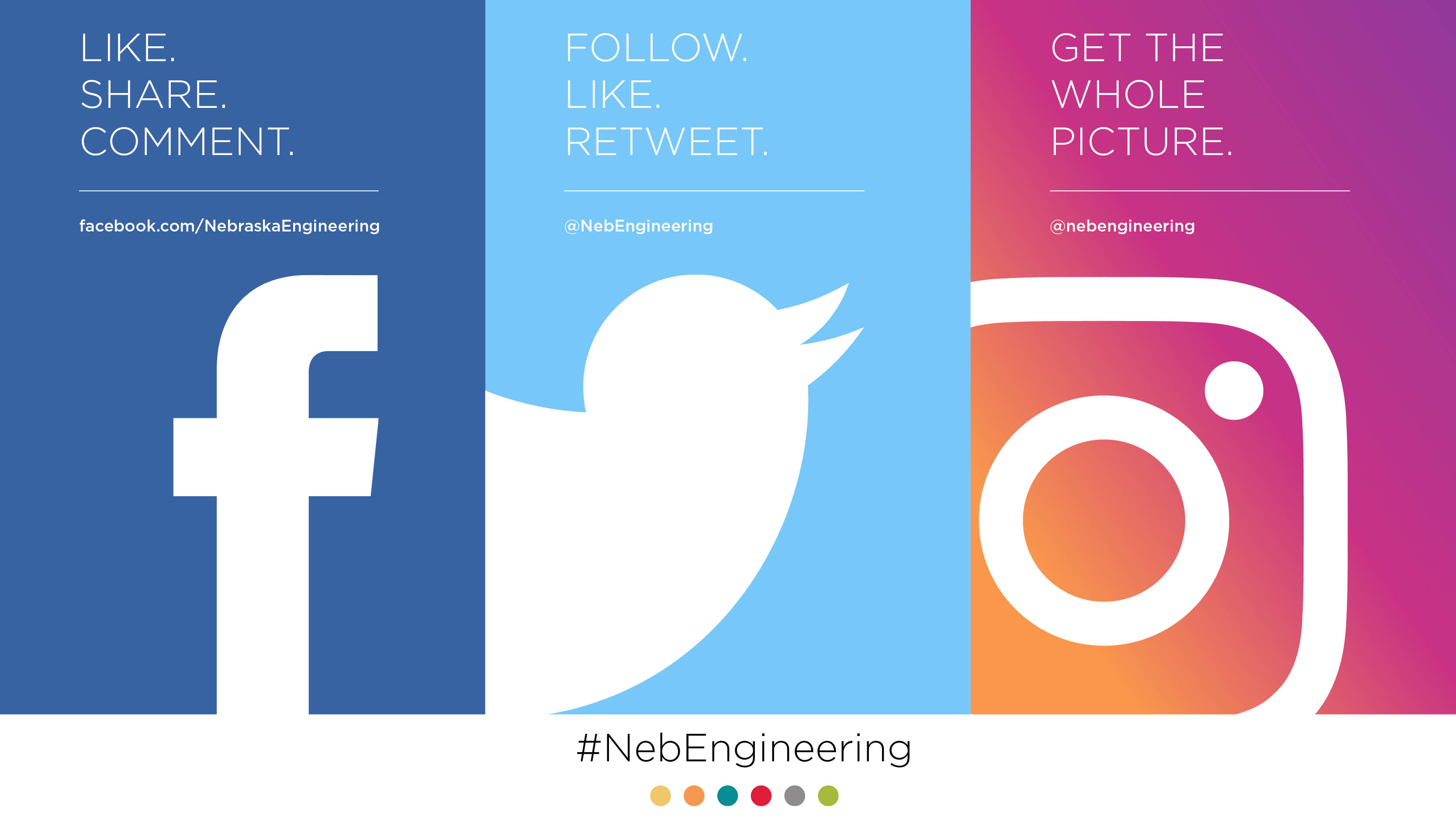 Follow the College of Engineering on social media.