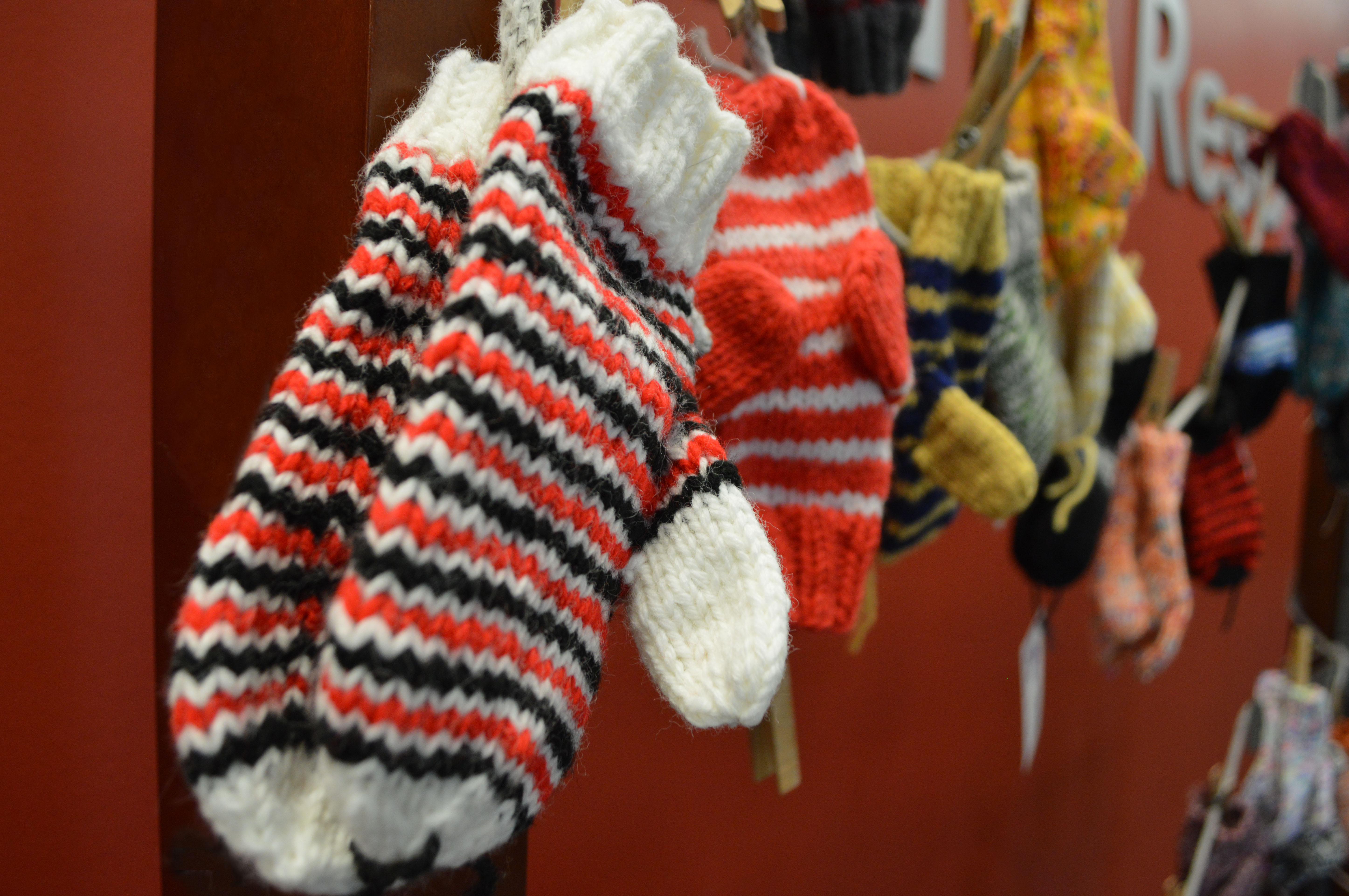 Anne Mulligan of Lincoln donated 50 pairs of handmade mittens to the Caring for Clinton campaign. Join her in making a donation. | Shawna Richter-Ryerson, Natural Resources