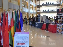 The Global Opportunities Fair highlighted different options for globally-minded students.
