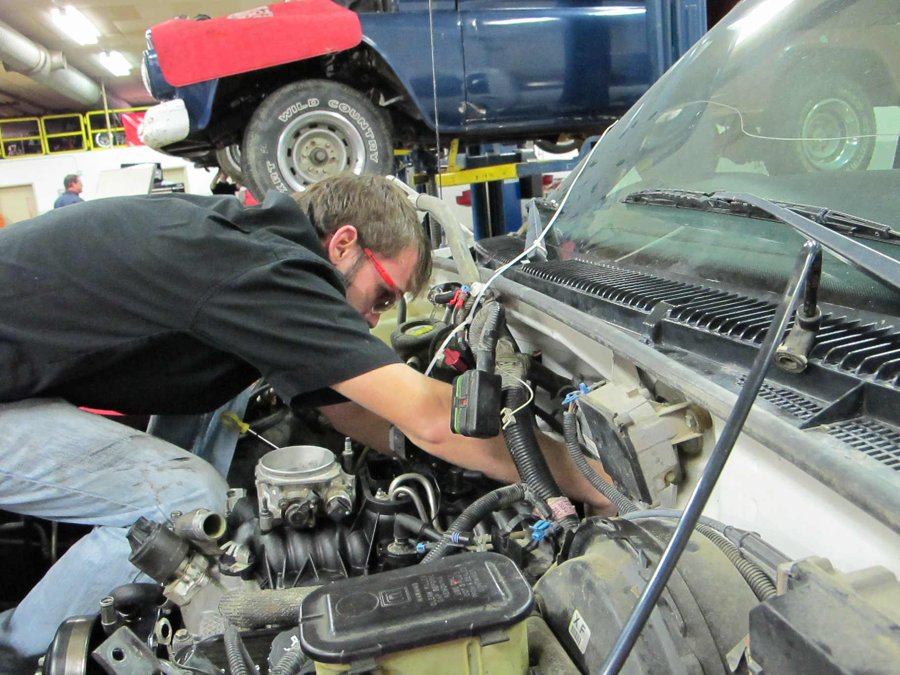 Automobile repair is one component of the 2+2 Skilled and Technical Sciences Program.