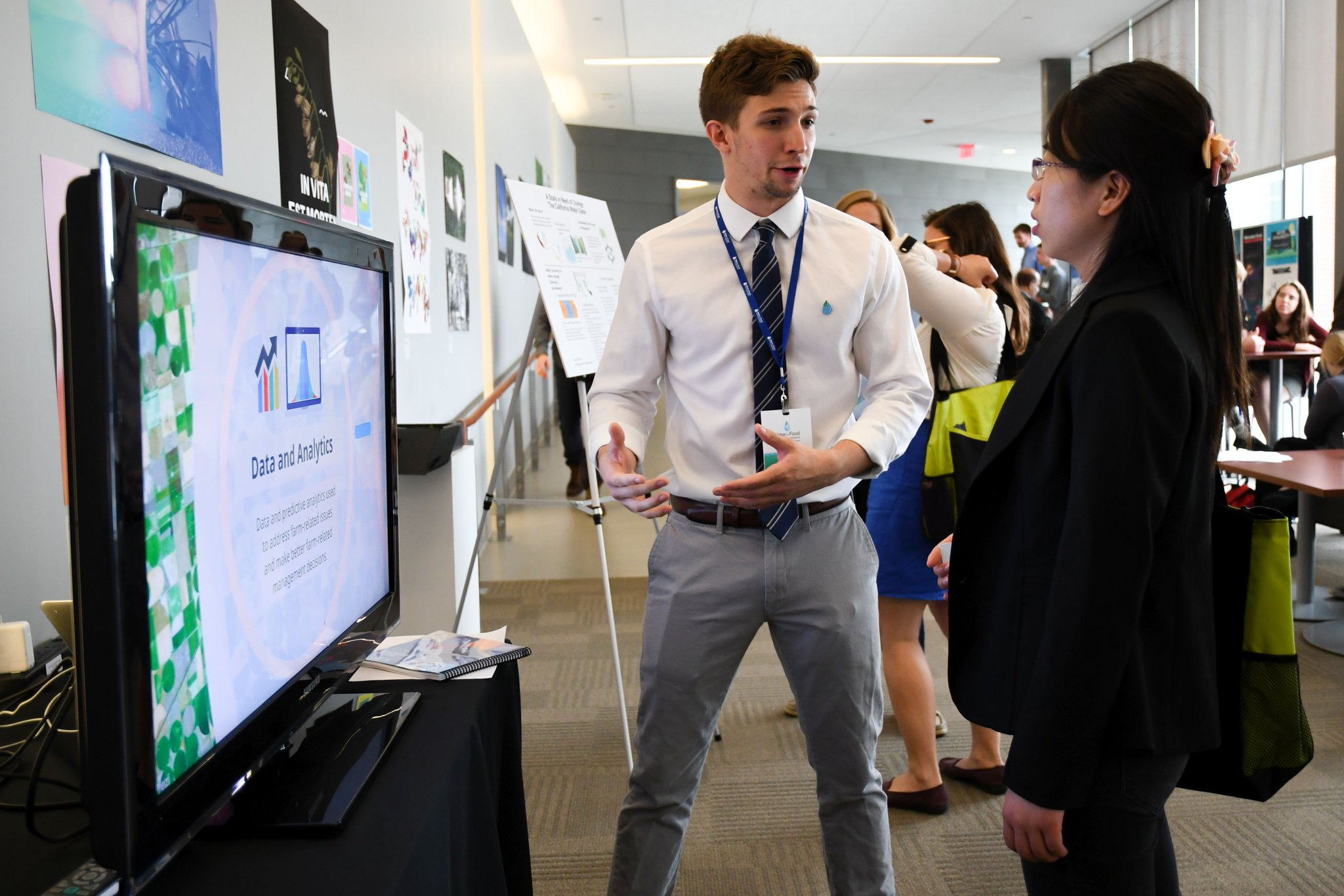 DWFI Intern Will Ruffalo shares his research during the 2017 DWFI Water for Food Global Conference. Photo Credit: Brett Hampton