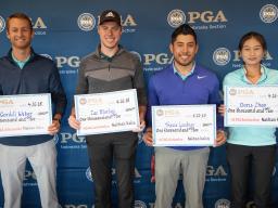 Nebraska Section PGA Scholarship Recipients include Cordell Weber, Zach Morley, TJ Loudner, and Doris Zhao
