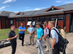 Students visit with Steve North in St. Andrews, Scotland
