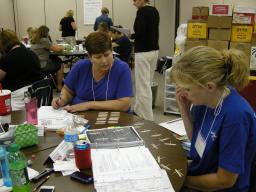 Rhonda Wiebers (left) during Primarily Math