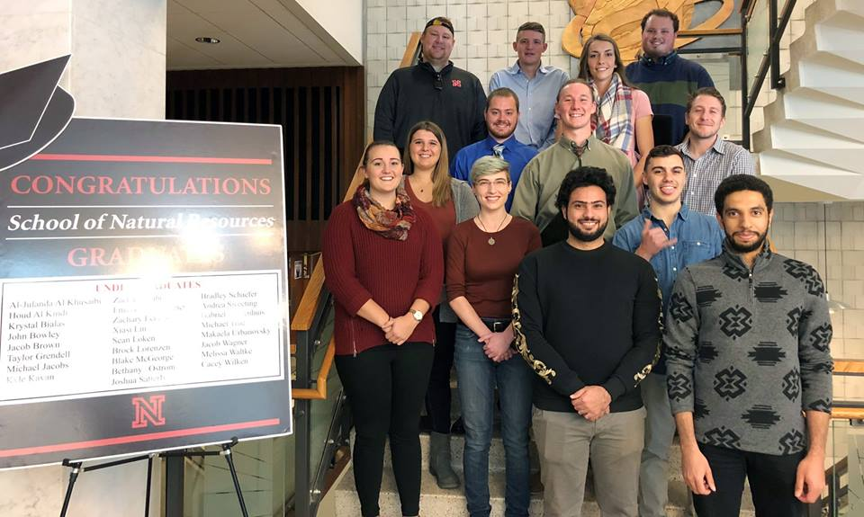 SNR celebrated its December graduates with a reception Dec. 14 in Hardin Hall.   Dillon Hanson, for the School of Natural Resources