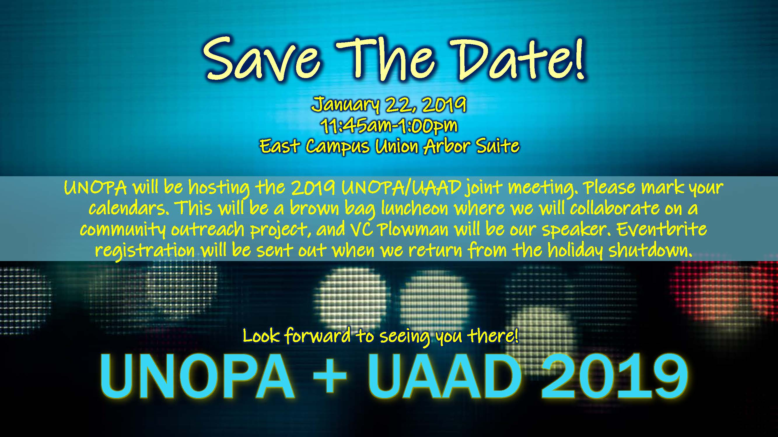 Save the Date: UNOPA + UAAD Meeting