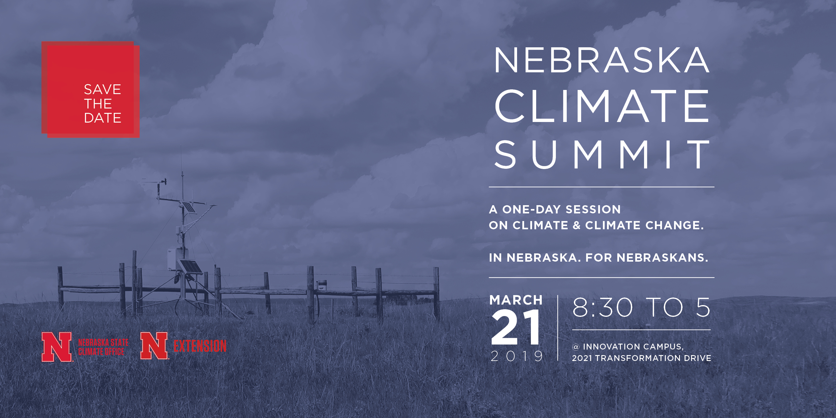 The Nebraska Climate Summit is planned for March 21 at Nebraska Innovation Campus.