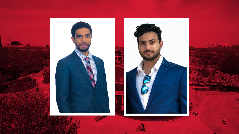 Houd Al Kindi and Al-Julands Al Khusaibi, both natives of Oman, transferred to SNR to pursue degrees in water science.