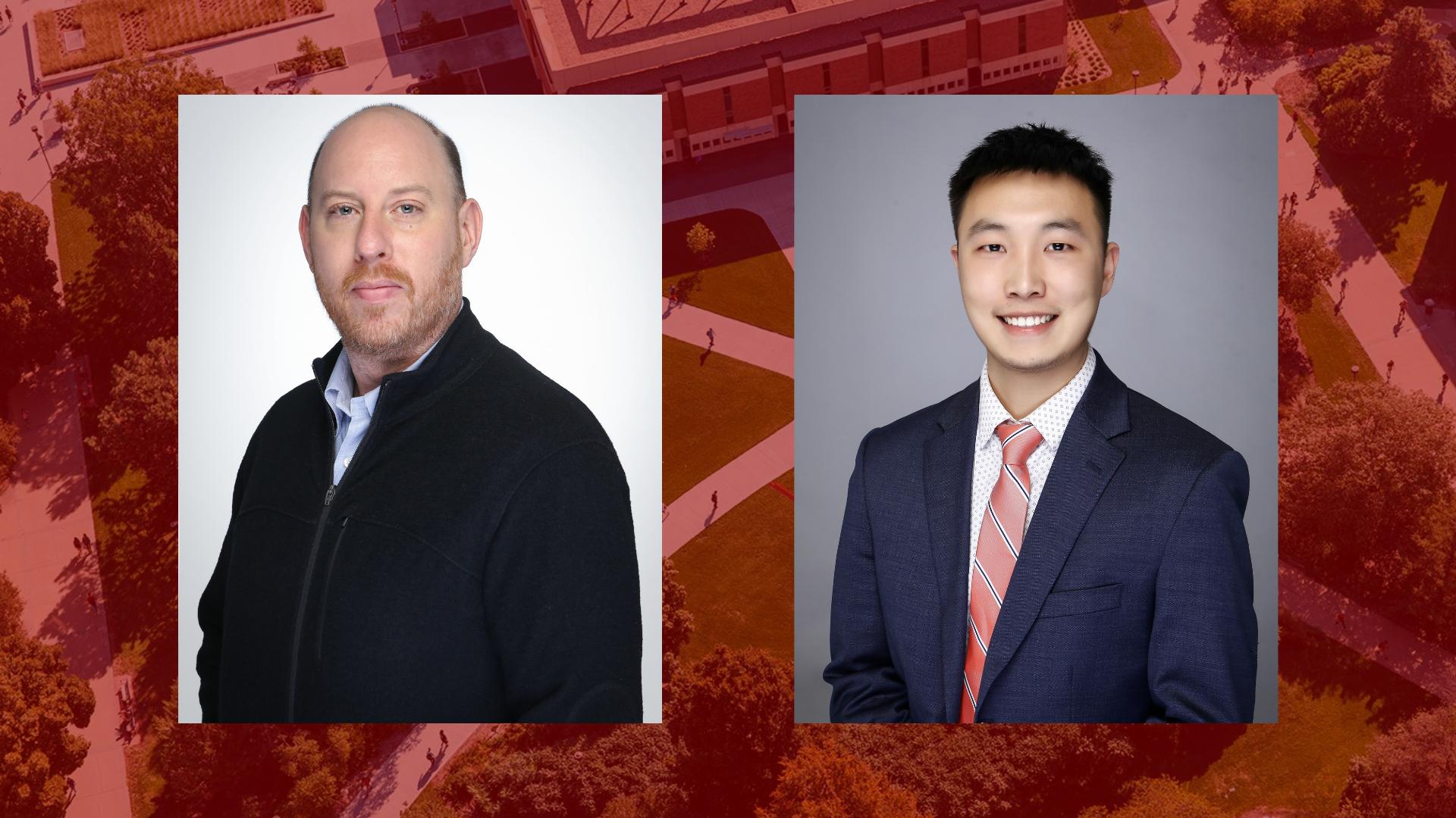 Dan Forman (left) and Chenxiang Zeng (right) are the new team members at the UNL-Zhejiang University Partnership Degree Program in Hangzhou, China.