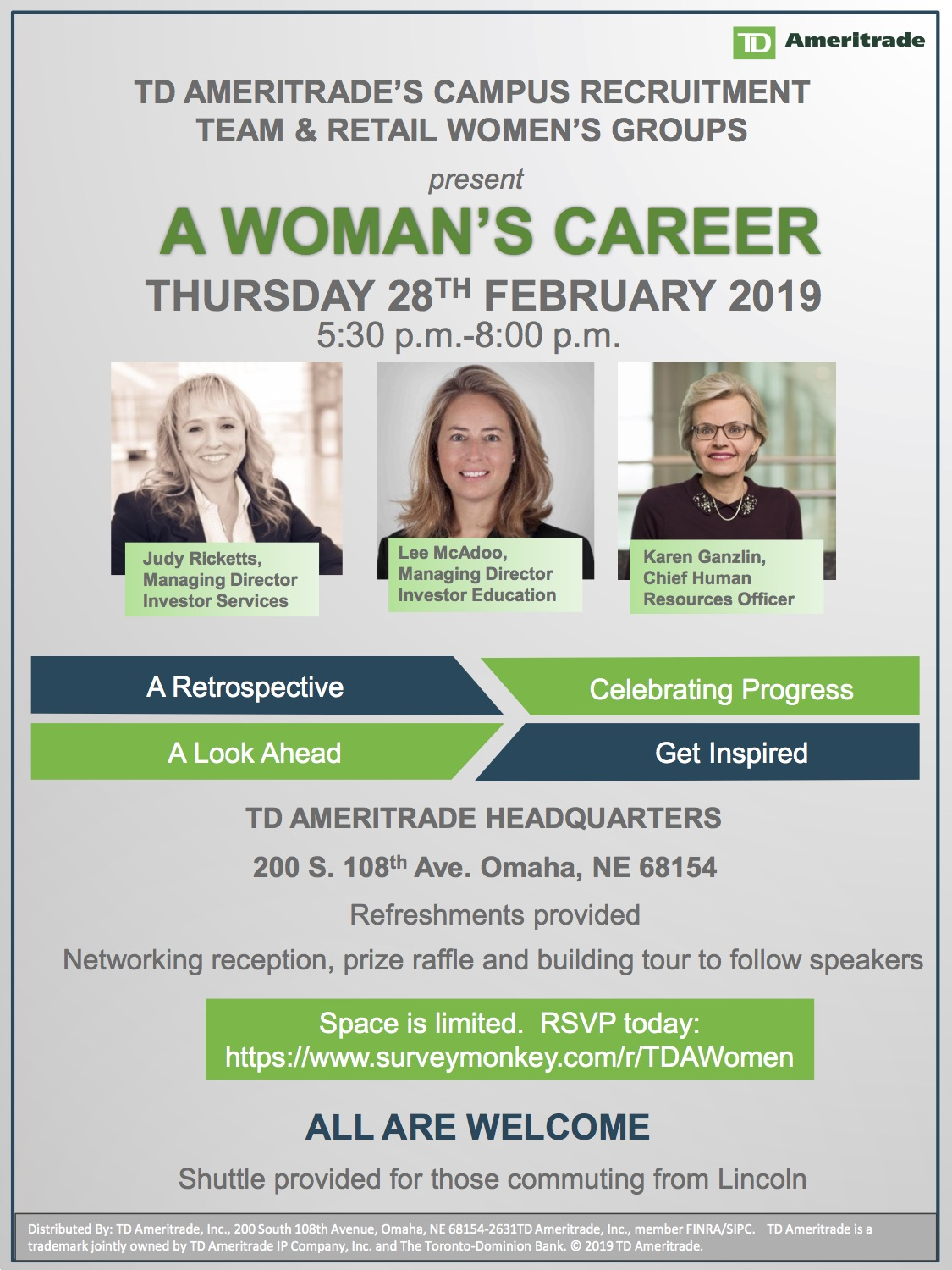 Attend Woman's Career Presentation by TD Ameritrade | Announce