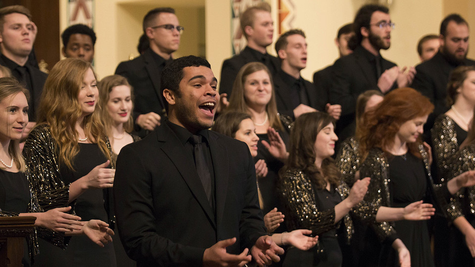 """The University Singers (pictured) will perform during """"A Celebration of Music and Milestone, N150"""" Feb. 15 at the Lied Center for Performing Arts. 