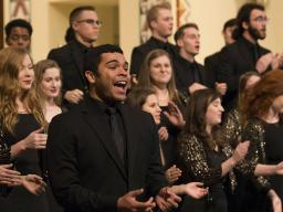 "The University Singers (pictured) will perform during ""A Celebration of Music and Milestone, N150"" Feb. 15 at the Lied Center for Performing Arts. 