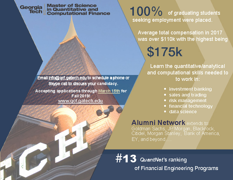 MS in Quantitative and Computational Finance (QCF) Program