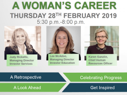 A Women's Career is set for Feb. 28.