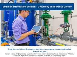 Attend the Emerson info session next Tuesday.