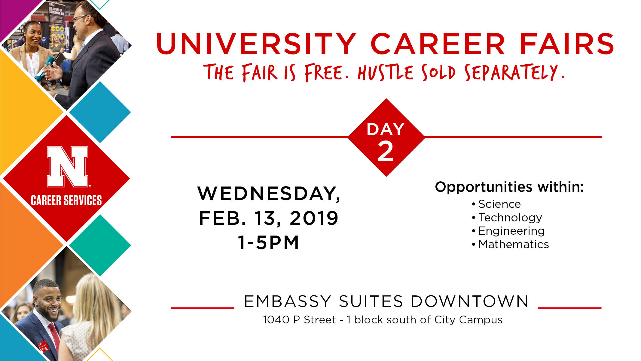 Spring STEM Career Fair is Wednesday, Feb. 13 at Embassy Suites Downtown.