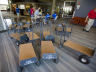 Carts sit ready for use during last year's move in at UNL.
