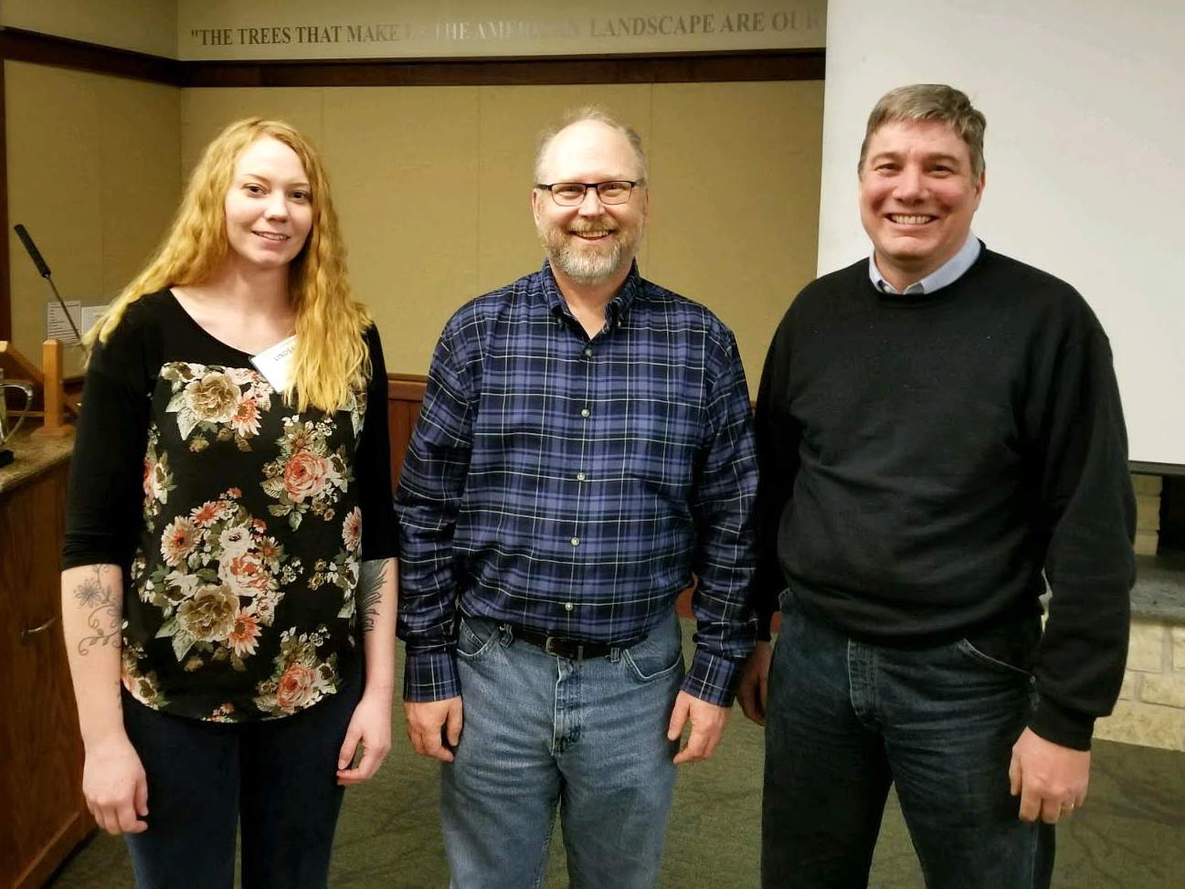 Lindsay Ohlman, Mark Pegg and Kevin Pope recently earned American Fisheries Society chapter awards for their contribution to the fisheries field. | Courtesy image