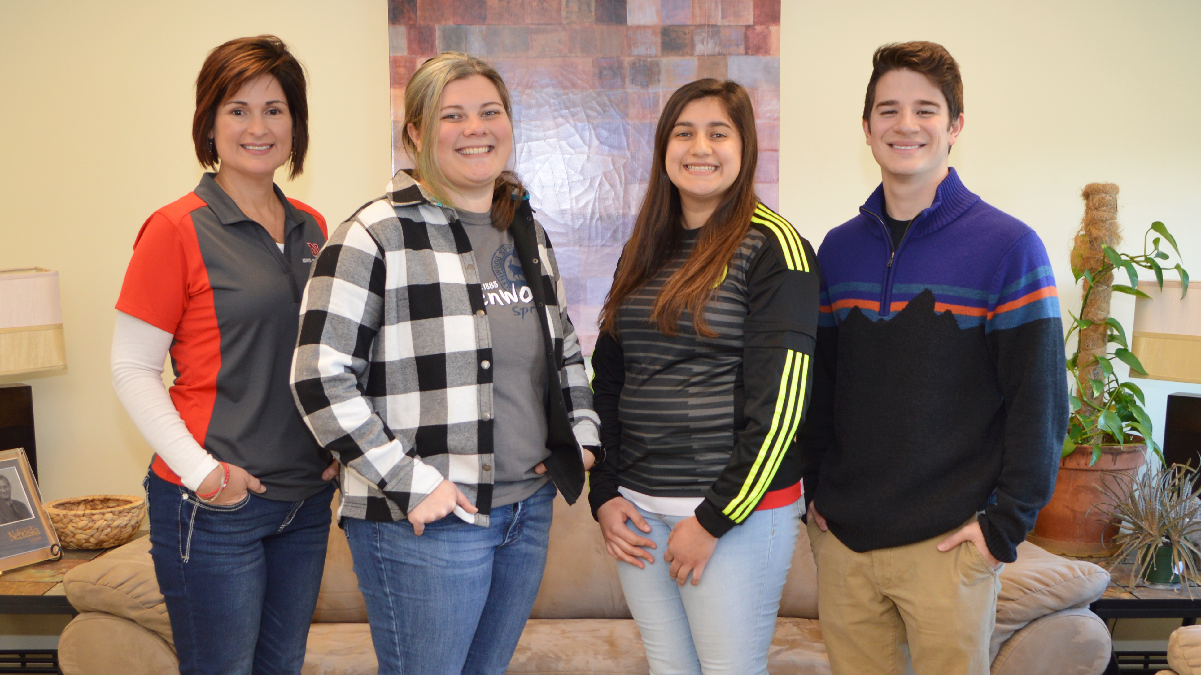 From left, Wilma Gerena, Katerina Lozano, Jazmin Castillo, and Dillon Hanson, all with the School of Natural Resources, have started a new club: Latins for Natural Resources.