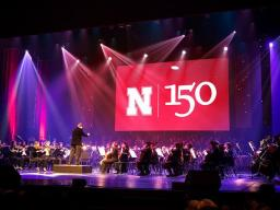 """The UNL Symphony Orchestra performs during """"Music and Milestones"""" Feb. 15. Photo by Craig Chandler."""