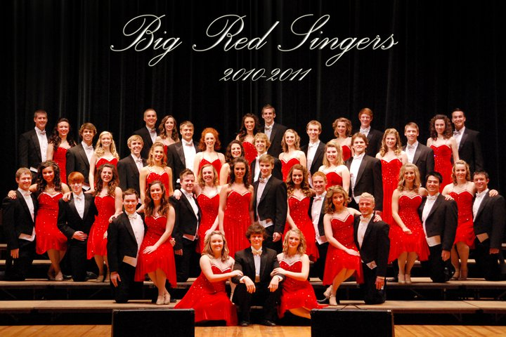 UNL's Big Red Singers (photo by UNL student Wyn Wiley)