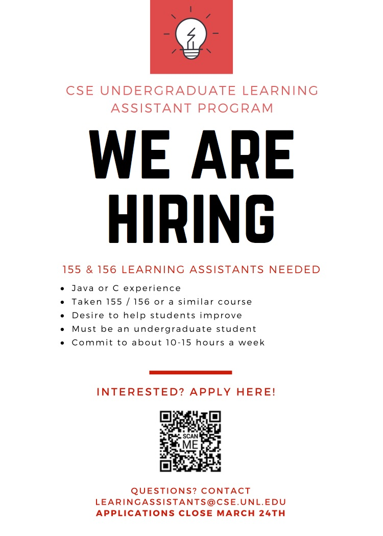 Become and Undergraduate Learning Assistant