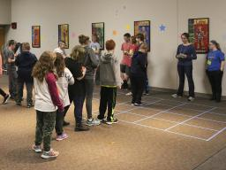 "The teens in the Games Committee planned and led several entertaining games for the 4th and 5th graders including a ""maze"" game."