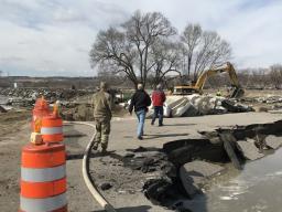 Nebraska officials assess road damage caused by recent flooding. | Courtesy Courtesy Nebraska Emergency Management Agency
