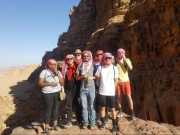 In addition to learning dynamic programming problem-solving strategies at Princess Sumaya University for Technology, the five Nebraska students also visited local world heritage sites and participated in cultural workshops. Courtesy photo from Tareq Daher