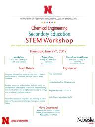 Chemical Engineering Secondary Education STEM Workshop