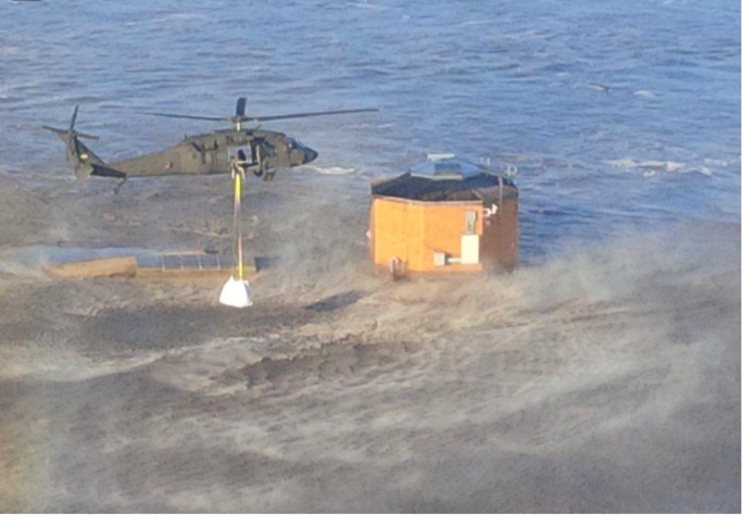Biological Systems Engineering student pilots Blackhawk helicopter in support of Nebraska flood recovery