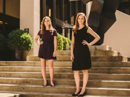 Colleen Carney (left, B.M. 2018) and her duo piano partner Melissa Terall won first place at the National Federation of Music Clubs' Ellis Competition for Duo Pianists.