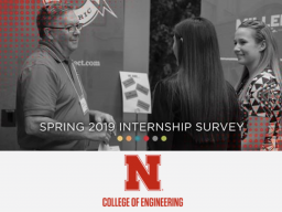 Report your Spring 2019 internships or co-ops.