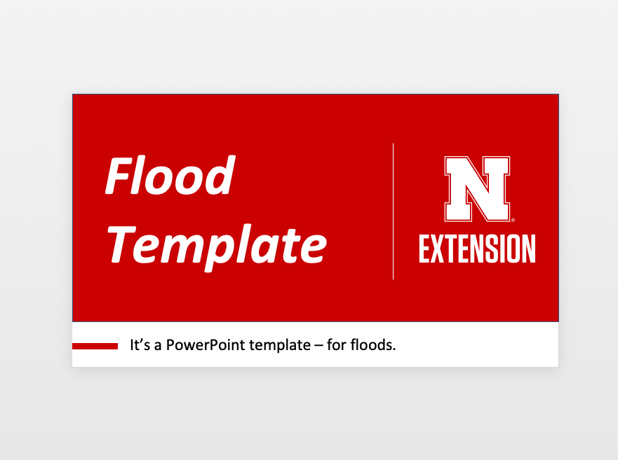 Flood Powerpoint Template Announce University Of
