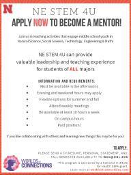 NE STEM 4U Mentor