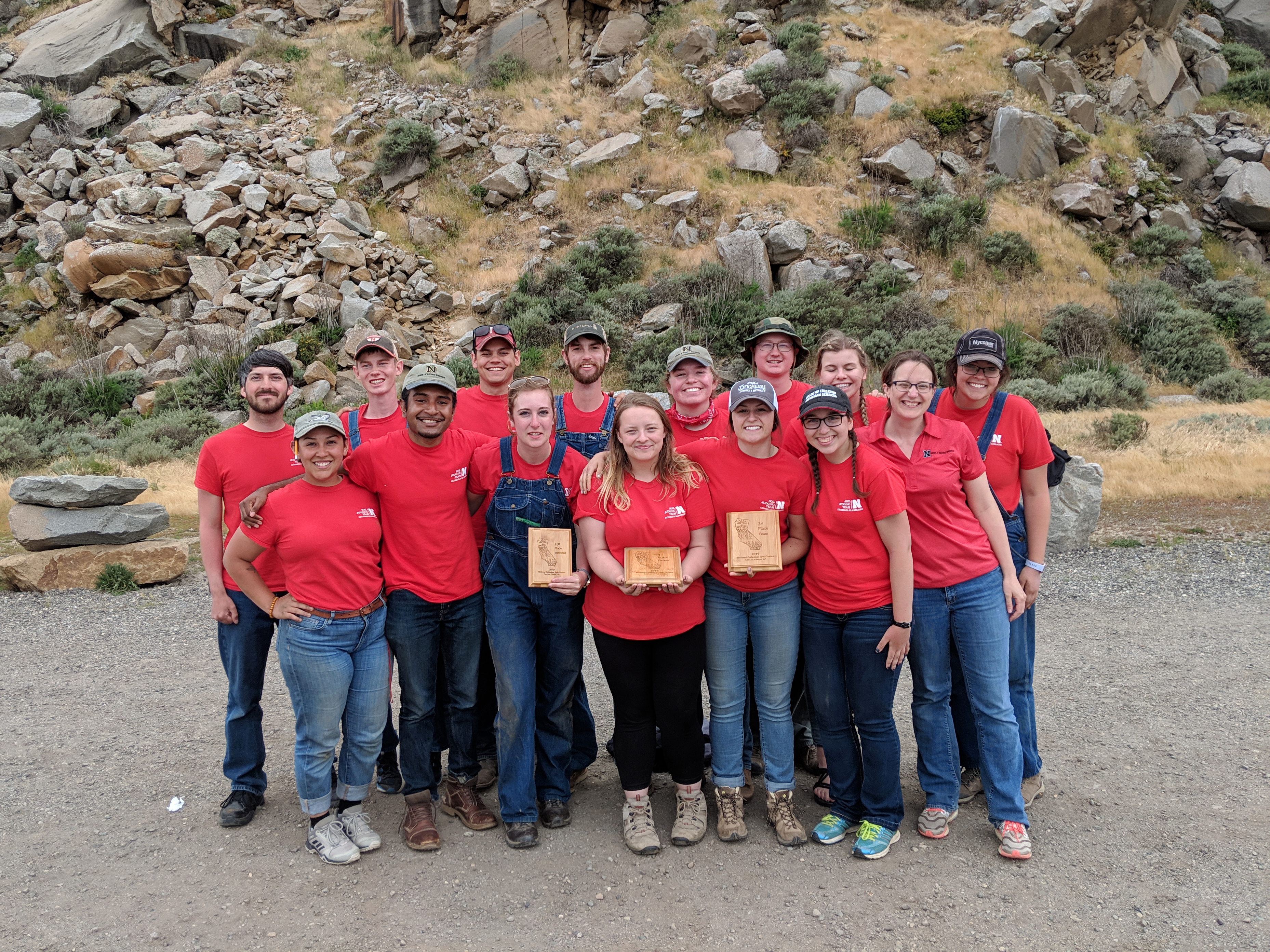 The UNL Soil Judging Team after their third-place finish at the national competition in California. | Courtesy