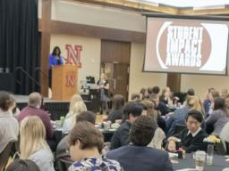 The 2019 Student Impact Awards, sponsored by Student Involvement, honored 13 projects led by recognized student organizations and their leaders.