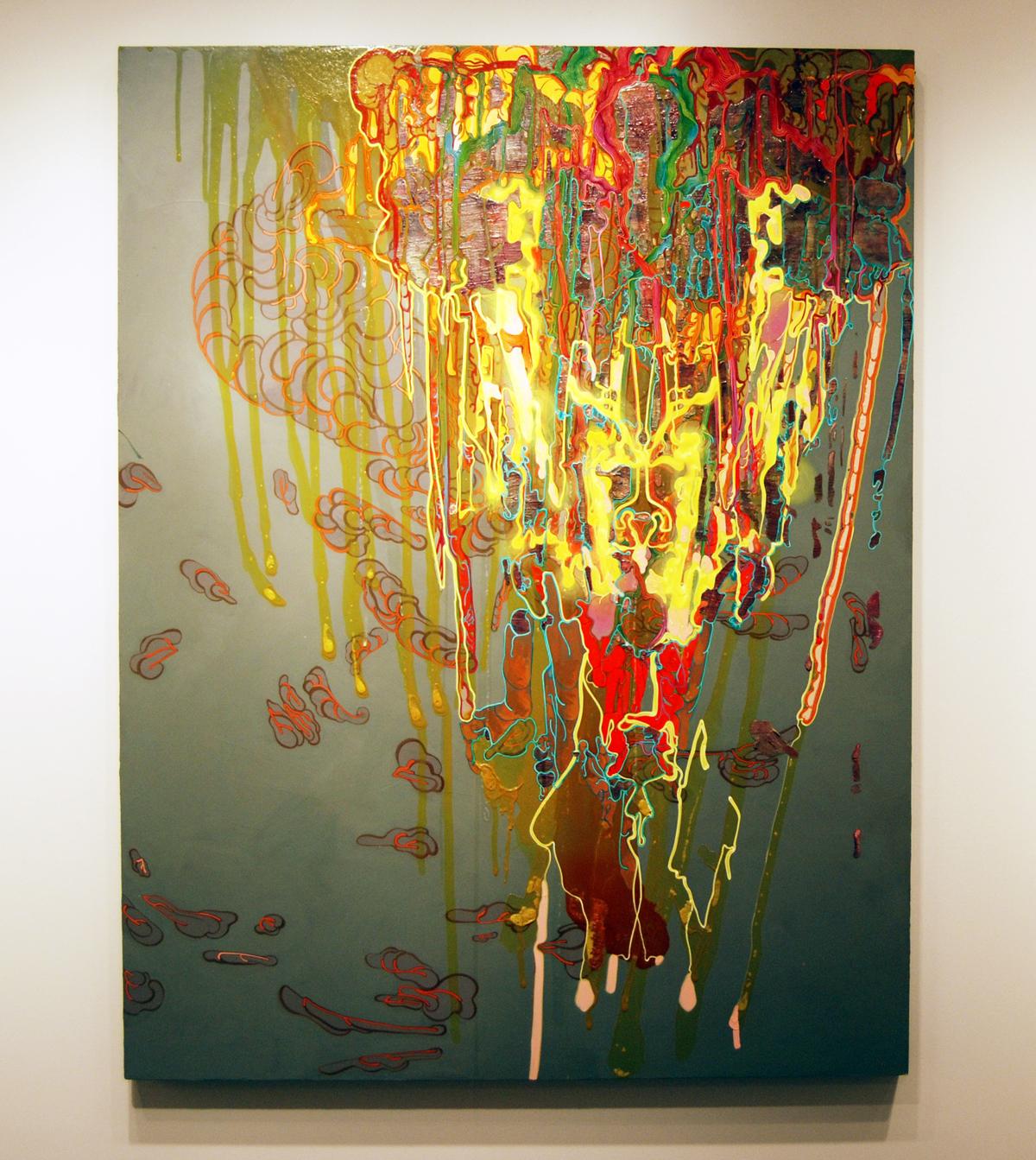 """Linnea Spransky, """"Untitled,"""" 2010, acrylic on canvas, 78"""" x 60""""."""